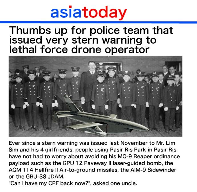 drone stern police warning